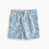J.Crew Boys' dock short in aquatic chambray print