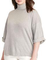 Lauren Ralph Lauren Plus Dalzo Jersey Short-Sleeve Sweater