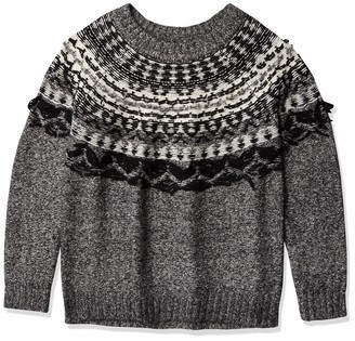 Vince Camuto Women's Fairisle Crewneck Pullover Sweater
