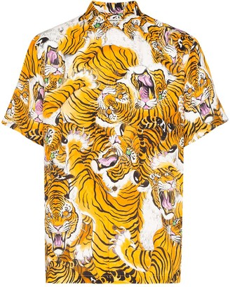 Wacko Maria Tiger-Print Shirt