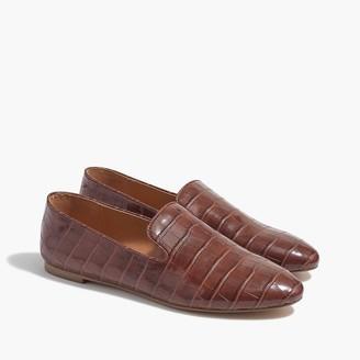 J.Crew Crocodile-embossed smoking loafers