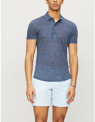 Orlebar Brown Sebastian tailored-fit linen polo shirt
