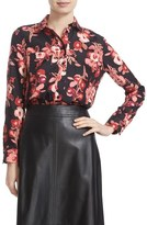 Kate Spade 'shadow Buds' Silk Shirt
