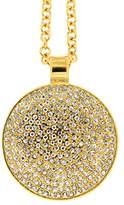 Jean Pierre Ladies 'Necklace with Pendant Pave Brass with Synthetic Diamond White Round 60 cm – HEJNL6095 RG