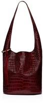 Elizabeth and James Finley Courier Croc-Embossed Leather Hobo