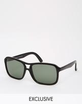 Reclaimed Vintage Aviator Sunglasses - Black