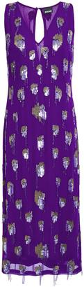Just Cavalli Embellished Chiffon Midi Dress