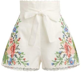 Zimmermann Juliette Floral Shorts