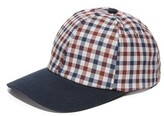 Ami Gingham & Denim Cap