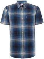Levi's Men's Plaid hydrangea one pocket short sleeve shirt