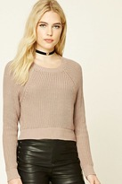 Forever 21 FOREVER 21+ Cropped Crew Neck Sweater