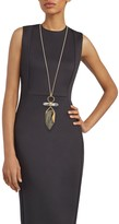 Alexis Bittar Ring-Top Lucite & Rock Crystal Pendant Necklace
