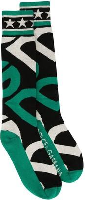 Dolce & Gabbana Logo Print Socks