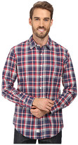 U.S. Polo Assn. Long Sleeve Classic Fit No Wrinkle Plaid Poplin Straight Point Collar Sport Shirt