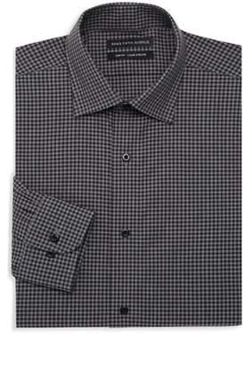 Saks Fifth Avenue Slim Fit Check Dress Shirt