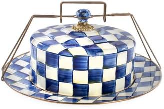 Mackenzie Childs Royal Check Cake Carrier