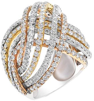 Diana M Fine Jewelry 18K Tri-Tone 6.15 Ct. Tw. Diamond Ring