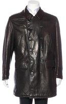 Armani Collezioni Giorgio Armani Leather Puffer Coat