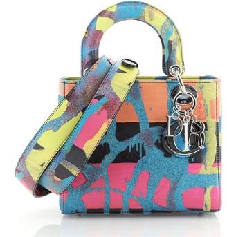 Christian Dior Lady Art Bag Limited Edition Chris Martin Printed Leather Medium