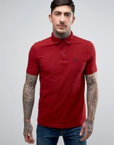 Barbour Joshua Pique Polo Beacon Logo Slim Fit In Red