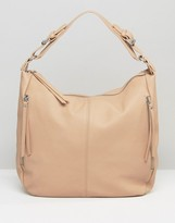 Pieces Slouch Hobo Shoulder Bag in Nude