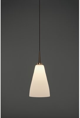 Bruck Lighting Zara 1 - Light Single Cone LED Pendant Color: Bronze