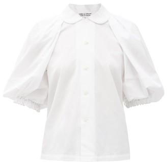 Comme des Garçons Comme des Garçons Puffed-sleeve Cotton Blouse - White