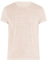120% Lino Crew-neck linen T-shirt