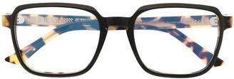 Cutler & Gross Tortoiseshell Square-Frame Glasses