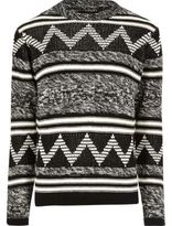River Island MensBlack Only & Sons contrast knit sweater