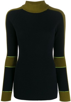 Victoria Beckham two-tone knitted jumper