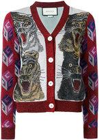 Gucci Tiger intarsia cardigan - women - Polyamide/Viscose/Metallic Fibre - S