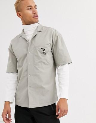 ASOS boxy shirt with toggle pocket detail