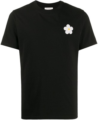 Sandro Paris floral embroidered T-shirt