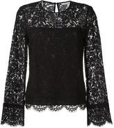 Diane von Furstenberg lace detail blouse - women - Cotton/Polyamide/Polyester/Viscose - 8