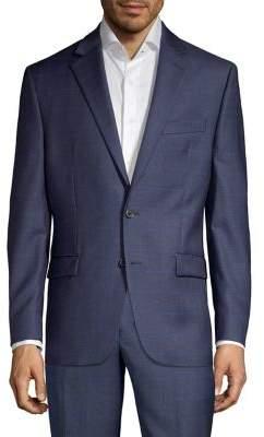 Lauren Ralph Lauren Classic Fit Wool-Blend Windowpane Suit Separate Jacket