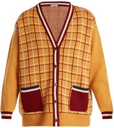 Miu Miu Oversized checked-wool cardigan