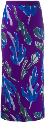 Christian Wijnants Floral Knit Skirt