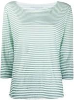 Majestic Filatures striped linen T-shirt