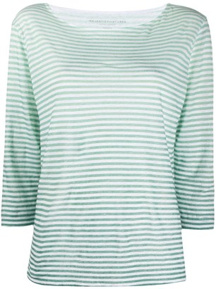 Majestic Filatures striped linen T-shirt