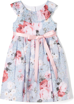 Laura Ashley Blue & Pink Floral Yoke Dress - Infant