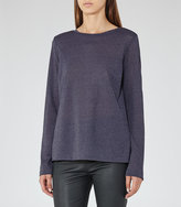 Reiss Milly Button-Back Jersey Top