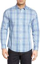 Vince Camuto Trim Fit Plaid Sport Shirt
