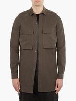 Rick Owens Grey Cotton Utility Overshirt