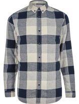 River Island Grey Jack & Jones Check Shirt