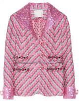 Marc Jacobs Embellished metallic tweed jacket