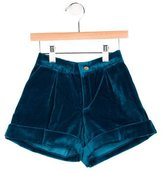 Oscar de la Renta Girls' Tailored Velvet Shorts w/ Tags
