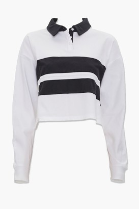 Forever 21 Colorblock Rugby Shirt