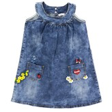 MonnaLisa Denim Dress With Embroidery And Applications