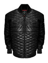 Asstd National Brand Double Diamond Leather Bomber Jacket